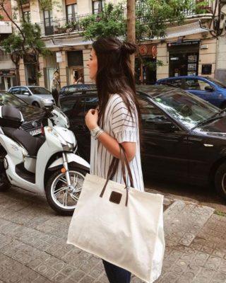 bolso shopper blanco